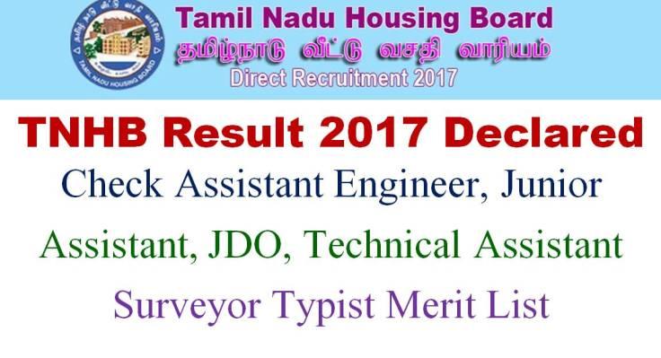 TNHB Exam Results