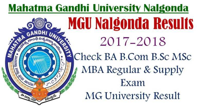 MGU 1st 3rd Semester Results 2019   Mahatma Gandhi