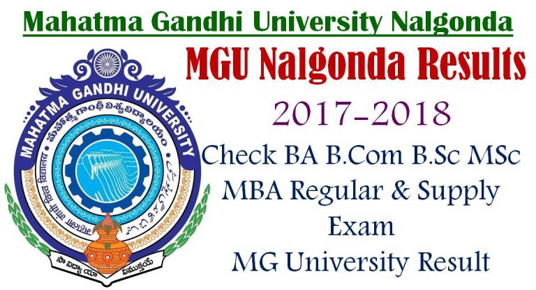 MGU 1st and 3rd Semester Results