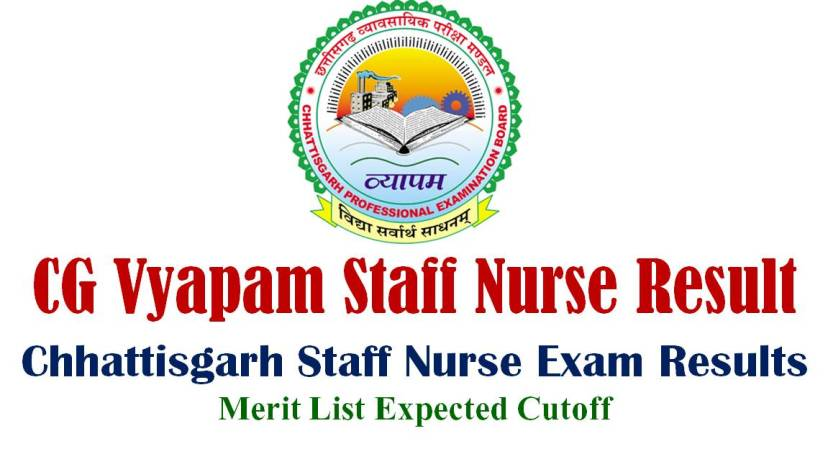 CG Vyapam Staff Nurse Result