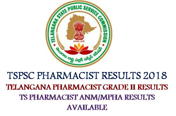 TSPSC Pharamacist Results