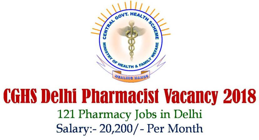 CGHS Delhi Pharmacist Vacancy 2018