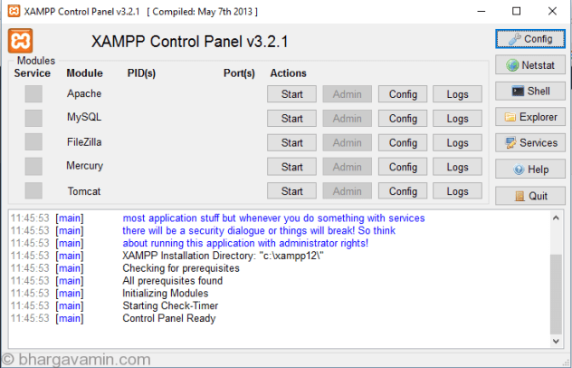 xampp-errorless-cntrolpanel