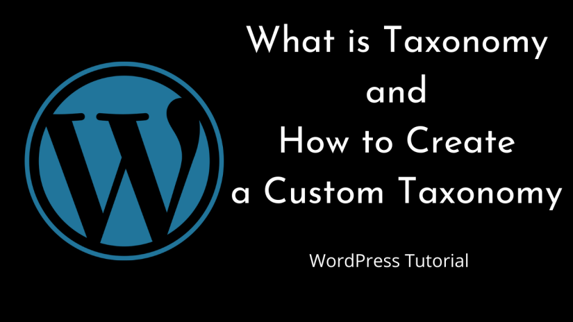How to create a Custom Taxonomy  | WordPress | Beginners Tutorial