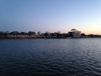 Jefferson Memorial view from other side of lake.