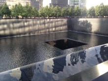 Fountain in 9/11 memorial