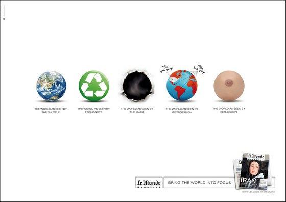 Le Monde Print Ad - Berlusconi