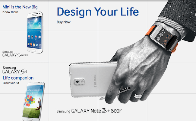 Key visual of Samsung Note 3 + Gear in India.