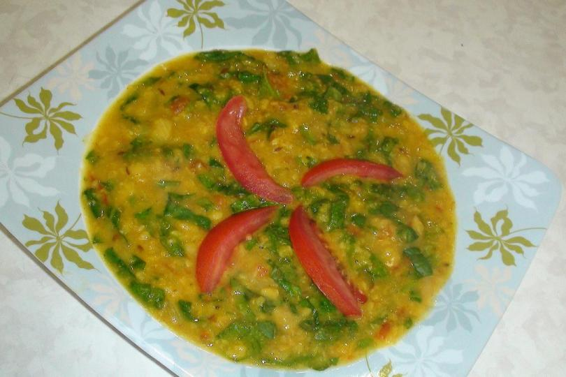 Moong Dal Palak Curry