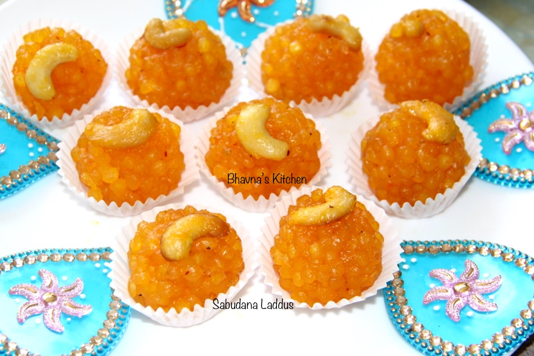 Sabudan or Sago Laddus/Ladoos - Tapioca Pearl Balls