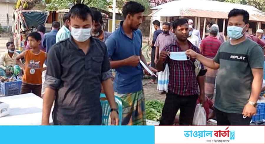 শ্রীপুরে সাতানি বাজারের খাজনা মওকুফ করলেন সাদ্দাম অনন্ত