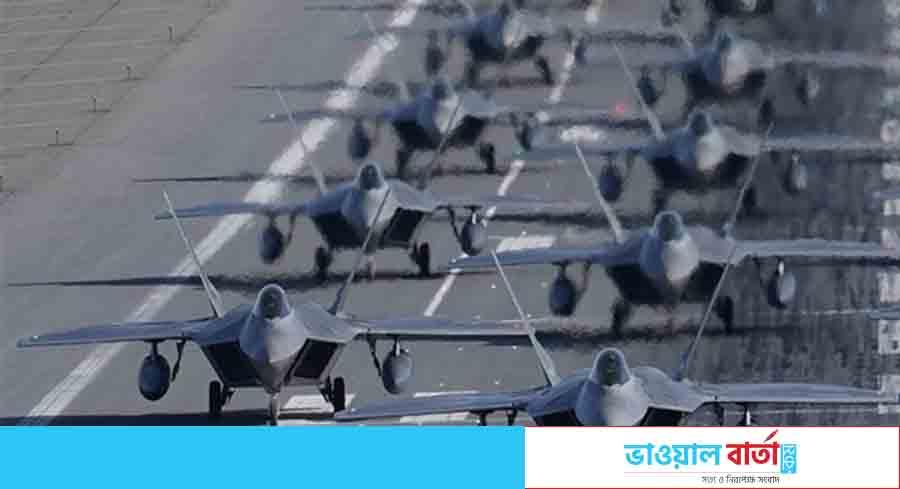 চীনকে বার্তা দিতে প্রশান্ত মহাসাগরে এফ-২২ বিমানের বহর পাঠাচ্ছে আমেরিকা