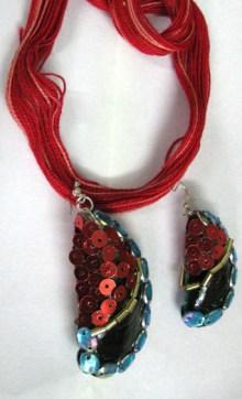 Red Metallic sequins