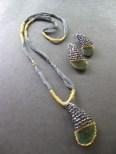 Rainbow metallic beads