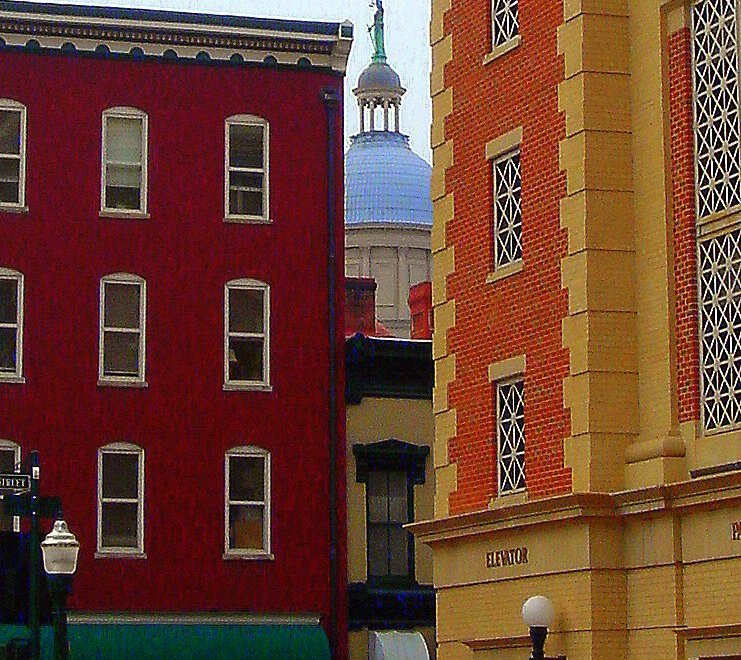 Downtown Staunton VA Map Photo