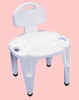 rubbermaid shower chair replacement parts nursery rocking cushions bath chairs burlington healthcare adjustable composite and seat with back