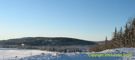 This is Chena Ridge in Fairbanks, Alaska.