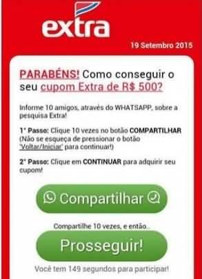 Fraude no WhatsApp