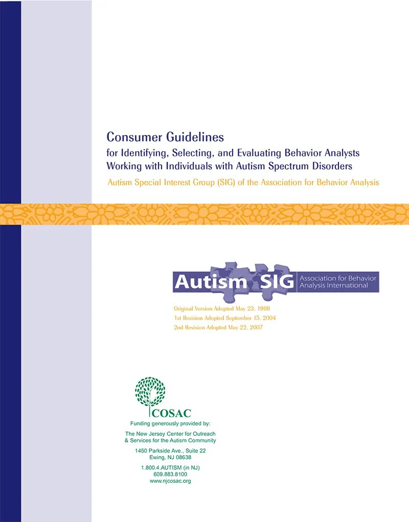 Autism SIG Consumer Guidelines
