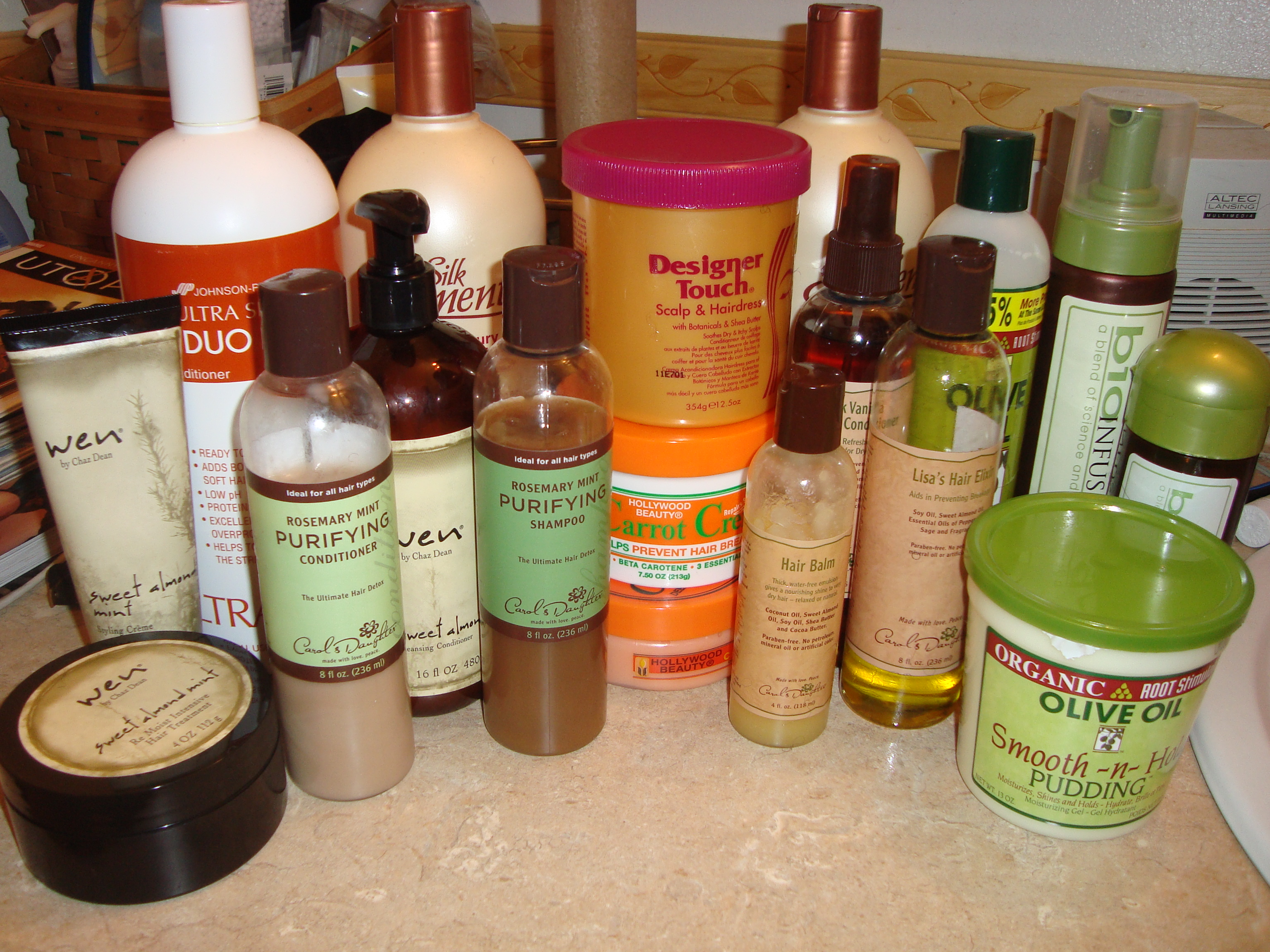 I Could Prolly Fill A Trunk With My Hair Care Junk Naturally