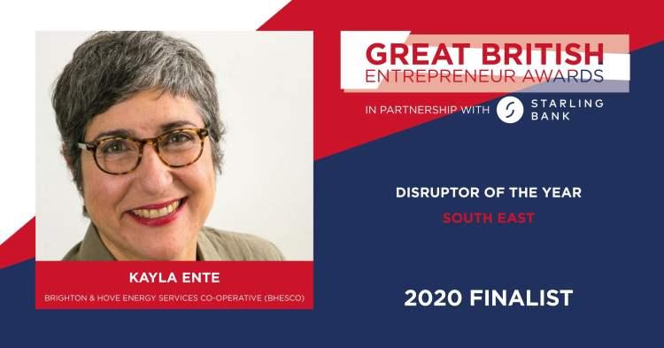 Great British Entrepreneur Awards 2020 - Kayla Ente - BHESCo