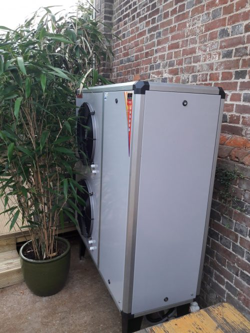 heating and hot water - air source heat installed by bhesco at the unity centre in lewes