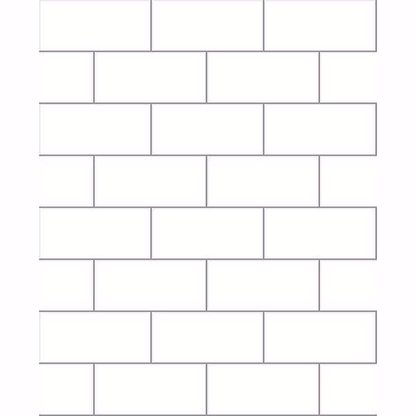easton off white subway tile wallpaper