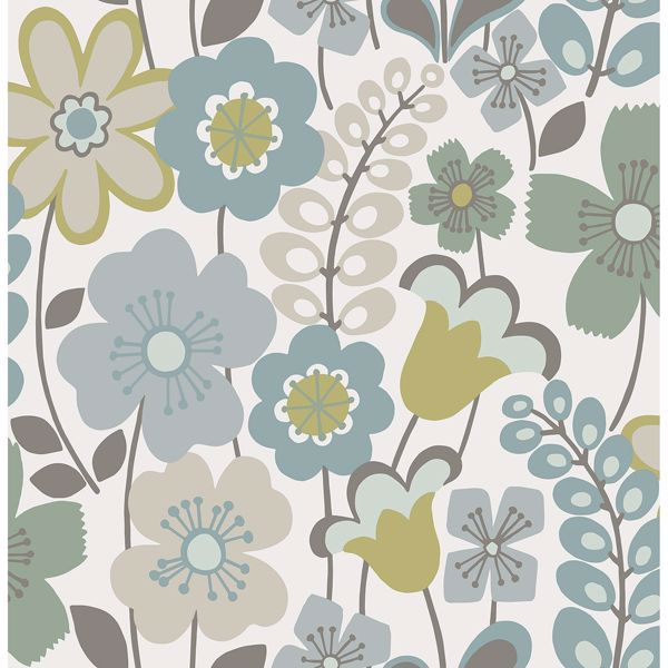 2903 25827 Piper Green Floral Wallpaper By A Street Prints