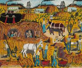 Lot 317 - Sam Byrne, Mining Broken Hill, 1886, est. $4,000-6,000. I really dig this one
