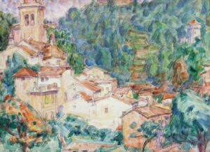 Lot 43 - John Peter Russell, Monastery at Portofino, 1920, est. $6,000-8,000. Bellissima