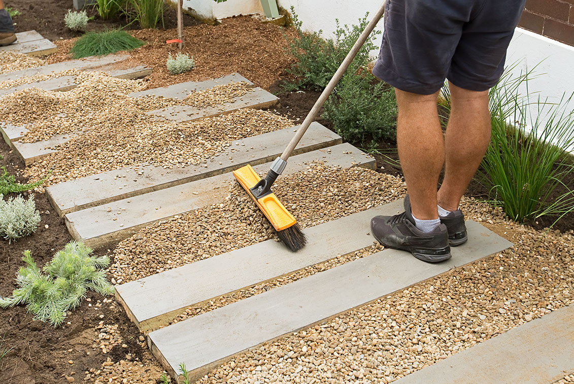 Backyard Project: Timber And Gravel Garden Path
