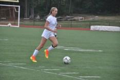 Junior defender Sophia looks for a pass