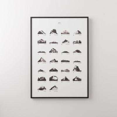 mountains-abc-print