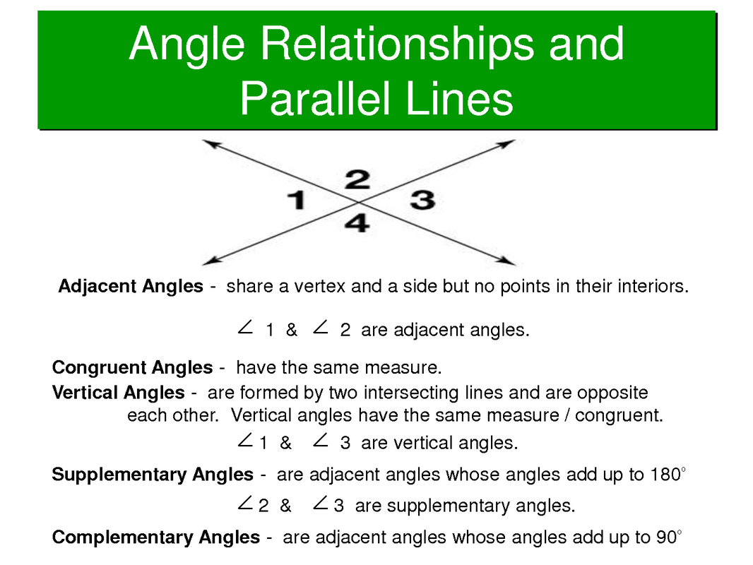 8 G 5 Angle Relationships