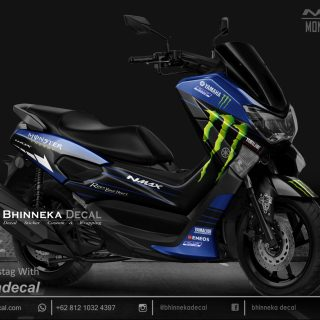 DECAL STICKER N-MAX 155 MONSTER BLUE KODE 031