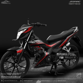 DECAL STICKER HONDA SONIC DESAIN GRAFITY RED-007