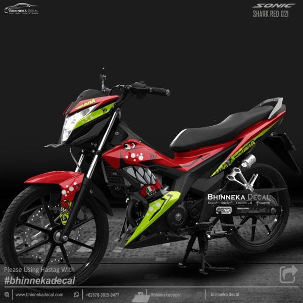 DECAL STICKER HONDA SONIC DESAIN RED SHARK-012