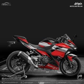 DECAL STICKER NINJA FI ALL NEW DESAIN RED MOTOCARD-006