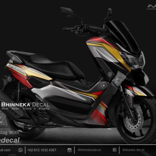 DECAL STICKER N-MAX 155 GRAFIS GOLD BLUE-032