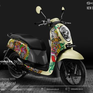 DECAL STICKER HONDA SCOOPY WHITE BARONG-012
