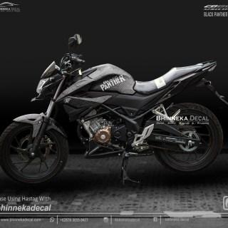 DECAL STICKER CB 150 R 2019 DESAIN BLACK PANTHER-010