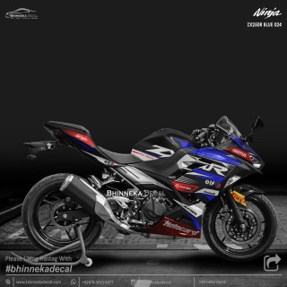 DECAL STICKER NINJA FI ALL NEW DESAIN ZX-250R BLUE-018