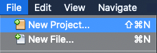 New Project in Netbeans