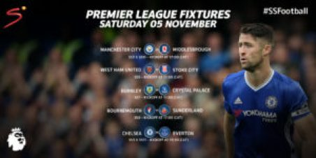 The English Premier League's fixtures for Saturday