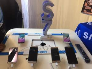 Samsung Phones On Display At The Econet Expo