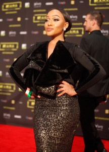 The TV personality Thando at the red carpet during the MAMA 2016, in Johannesburg, South Africa on October 22nd, 2016