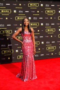 Khutso Theledi at the red carpet during the MAMA 2016 in Johannesburg, South Africa on October 22nd, 2016