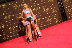 The TV personality Nomuzi at the red carpet during the MAMA 2016, in Johannesburg, South Africa on October 22nd, 2016