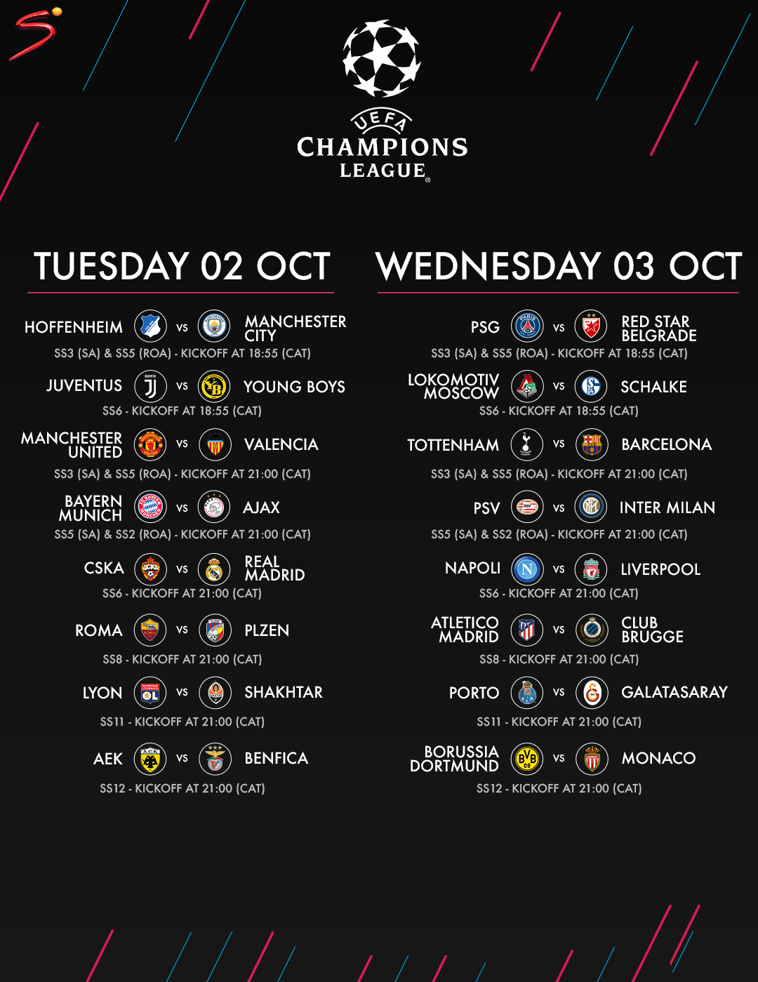 Catch Exciting UEFA Champions League Matches on DStv and GOtv