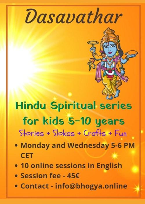 Dasavathar Workshop for 5+ kids